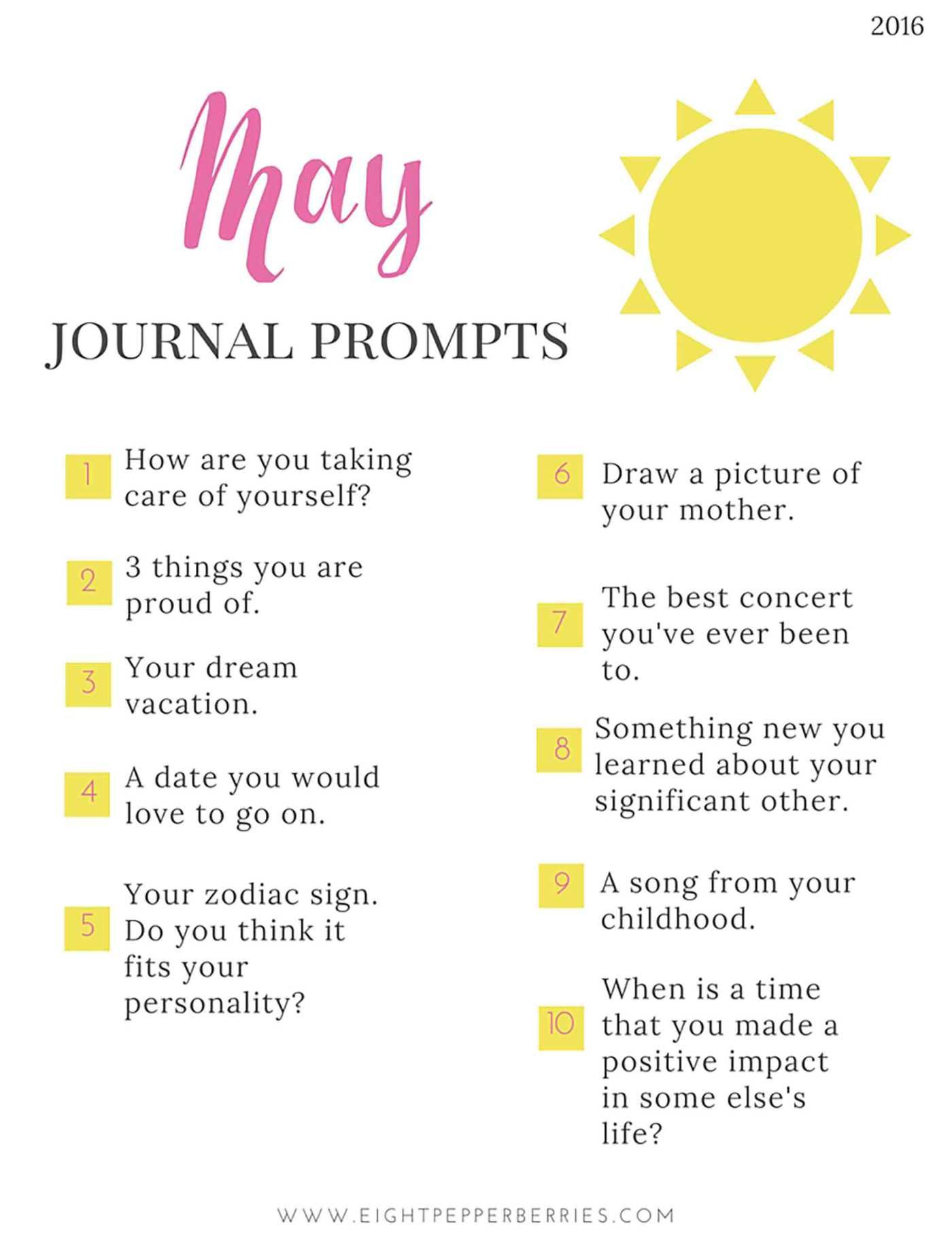 Journal Prompts No 9