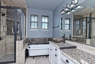 Contemporary Full Bathroom with Flush & Limestone Tile in Hutto, TX   Zillow Digs