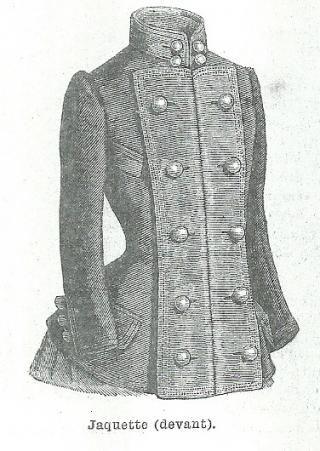 Les Fées Tisseuses :: Patrons 1800 à 1910 gratuits - Jaquette | Tuto ...