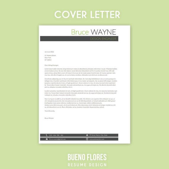 Bruce Wayne Cover Letter Template A Classic Masculine Design By
