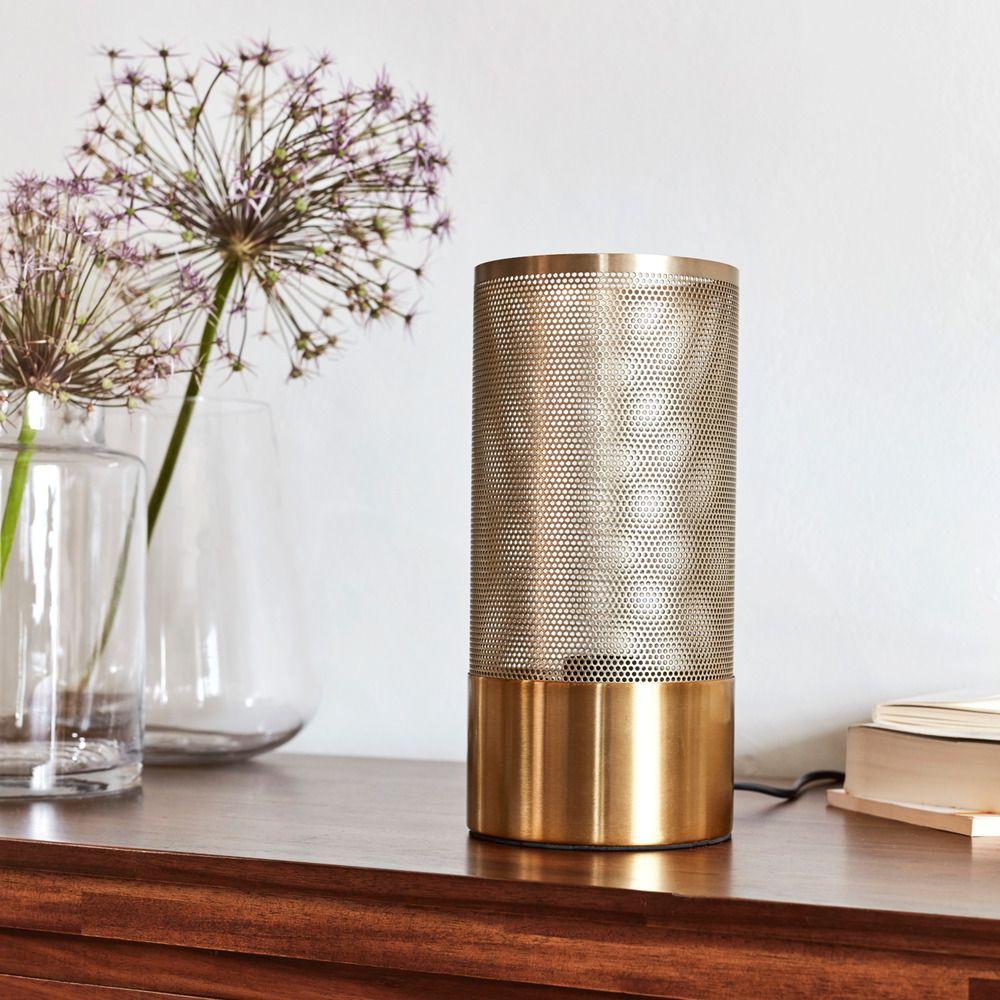 Lampe A Poser En Laiton Brosse H27cm Alinea 2020 Lampe A