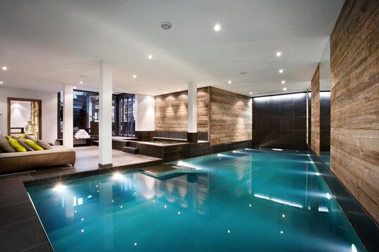 At Sir Richard Branson S Alpine Retreat The Lodge There S No Shortage Of Things To Do Bask In The Indoor Swim Indoor Pool Indoor Swimming Pools Dream House