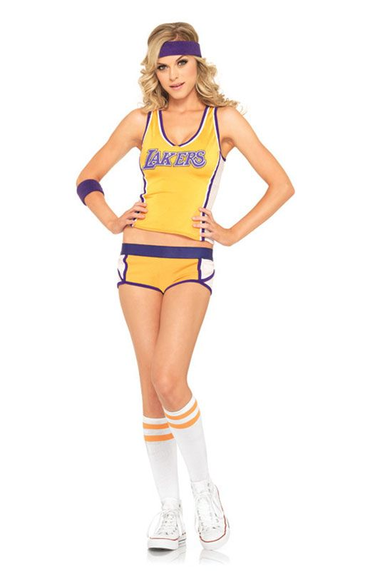 Retro Lakers Set Adult Costume For Halloween 5495 Nba Lakers