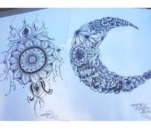 Inspiring Image Art Creative Daisys Drawing Flowers Henna Moon
