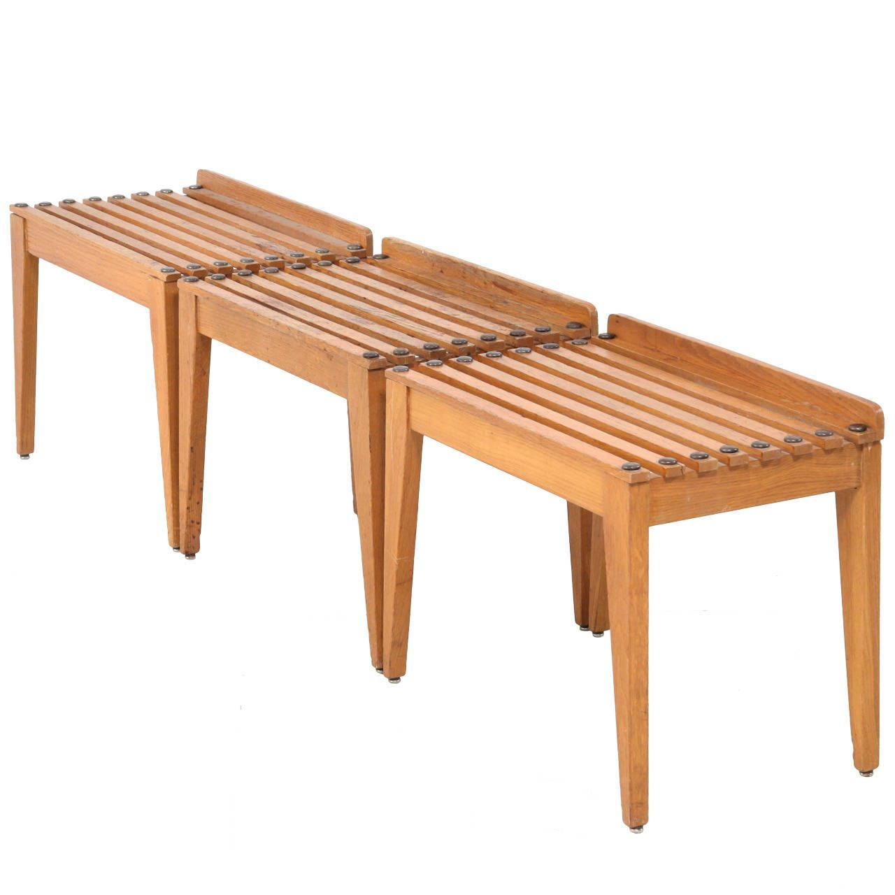 Set Of Three Porte Bagage Benches From A Unique Collection Of