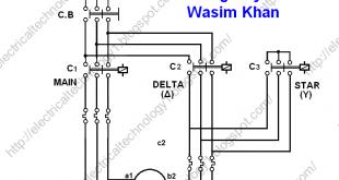 Power Circuit Diagram of Automatic Star-Delta (Y-Δ
