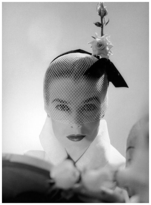 Lillian Marcuson in a hat by Lily Dache, 1951 ©Milton Greene
