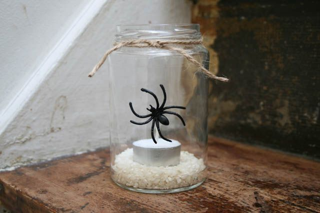 DIY Halloween glas lanterner • Sweet Country Life