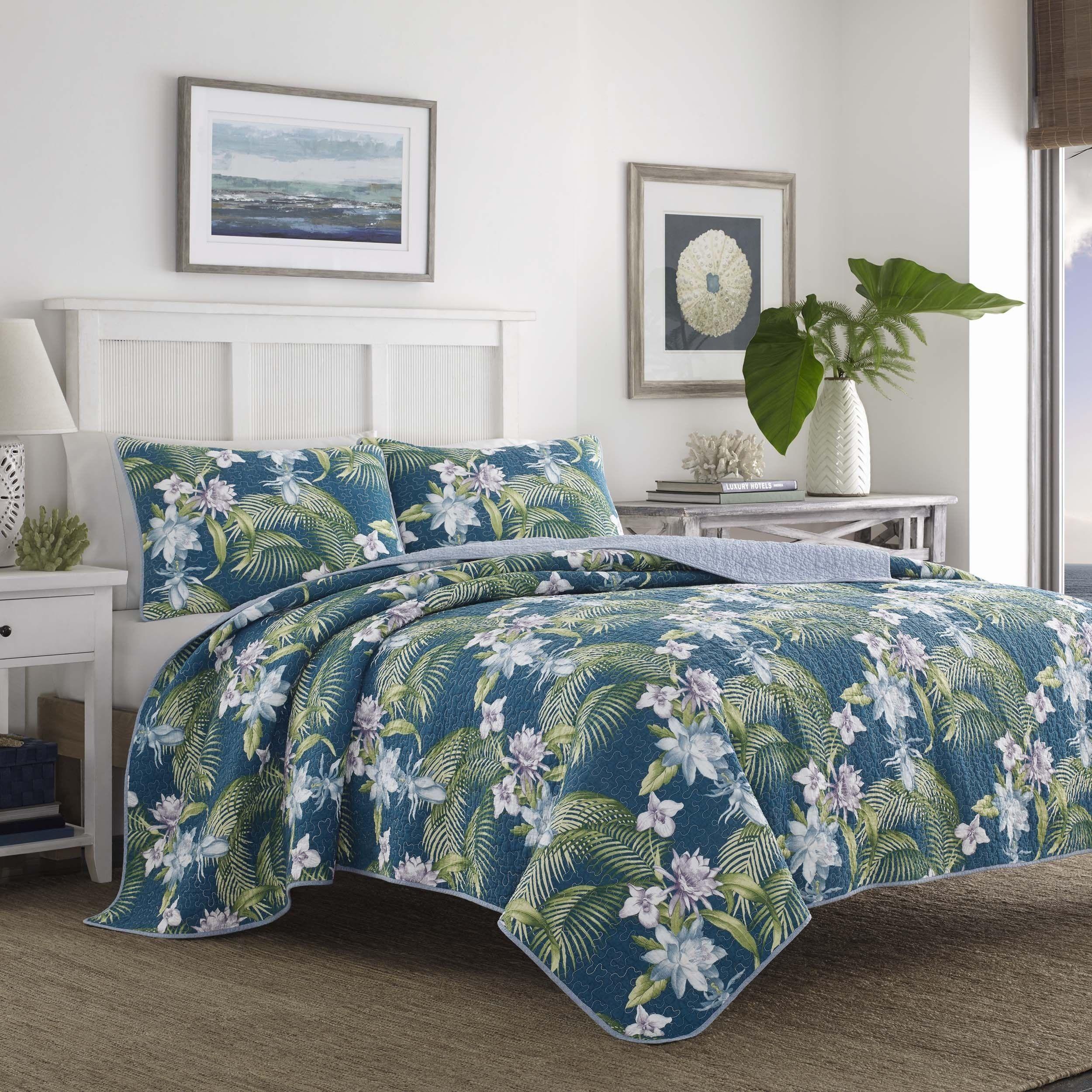 Tommy Bahama Southern Breeze Cotton Quilt Set | Overstock.com ... : overstock quilts queen - Adamdwight.com