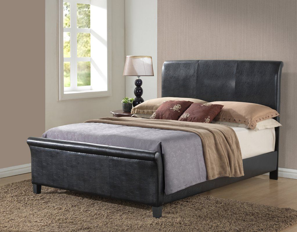 Newbury Upholstered Sleigh Bed Upholstery bed, Bed