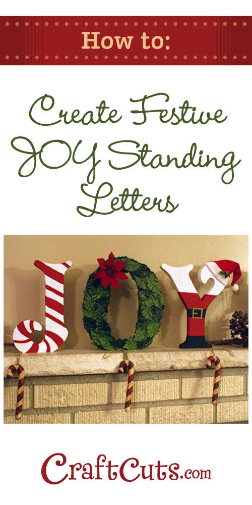 Joy Letters How To Create Christmas Standing Wood Letters