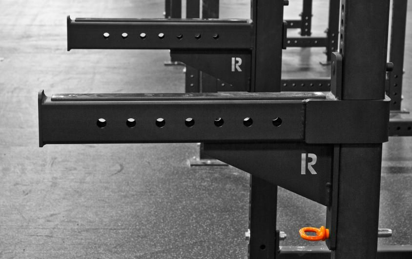 Rogue infinity safety spotter arms crossfit at home