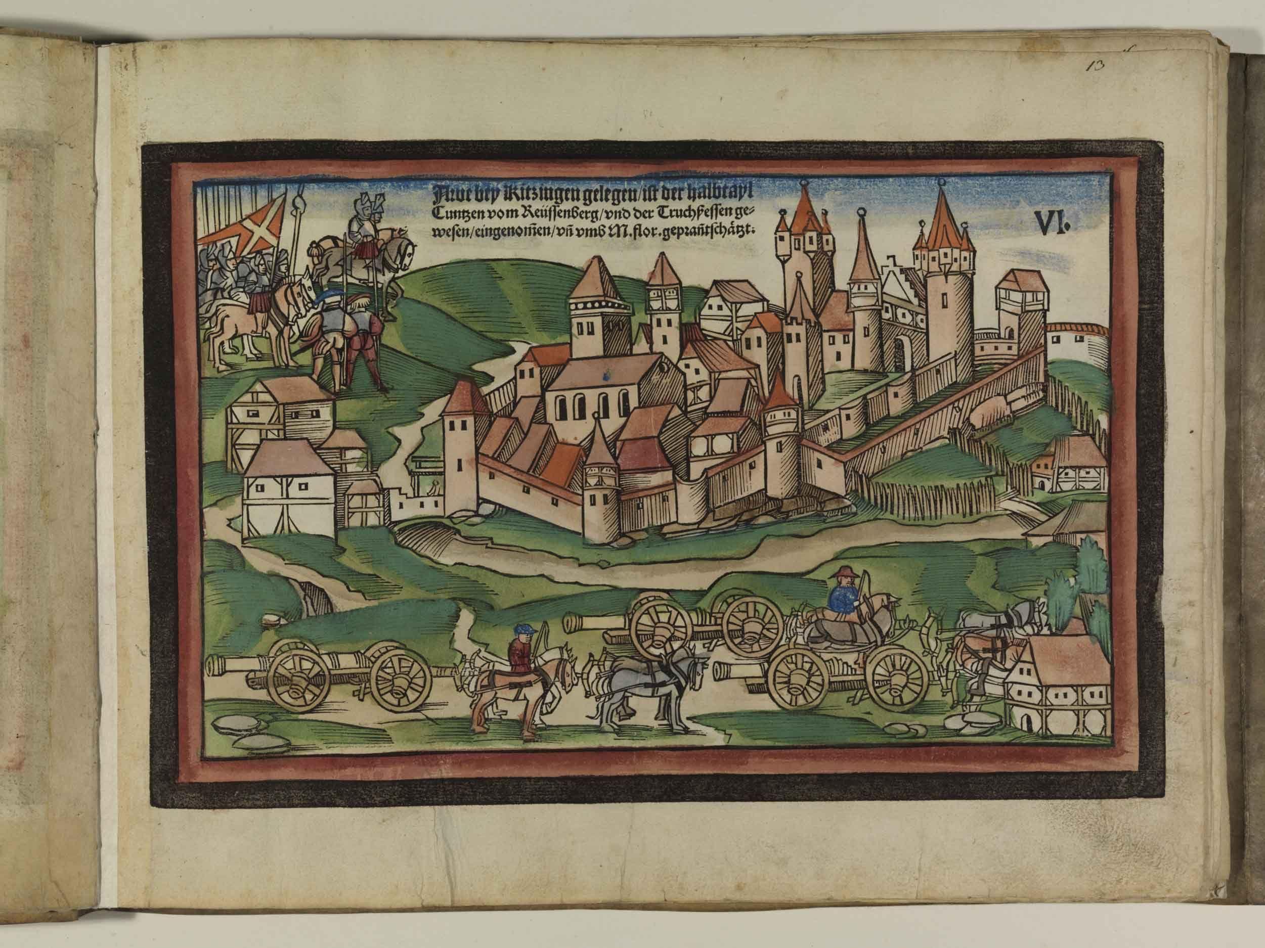 Artist: Unknown, Title: Bamberger Burgenbuch, Date: 1527, Page: 13