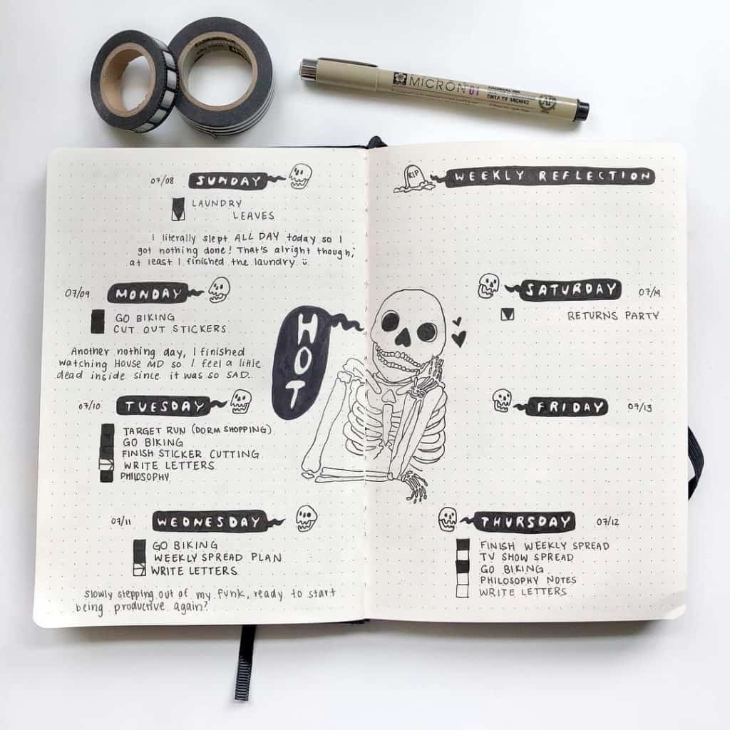 29 Spooky Halloween Bullet Journal Layouts and Spreads | My Inner Creative