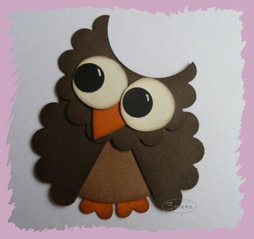 sonne s stempelreich tutorial eule owls eulen. Black Bedroom Furniture Sets. Home Design Ideas