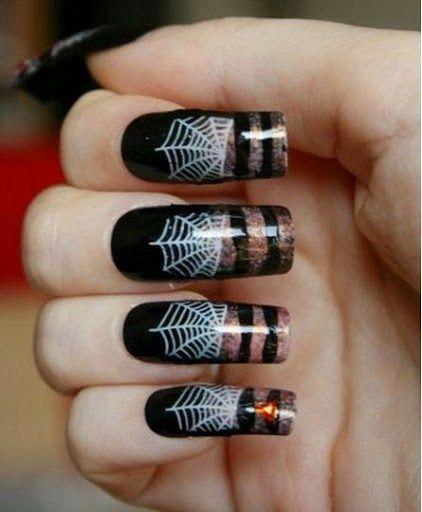 80 Cute Halloween Nail Art Ideas You Can Do At Home Halloween Nail Art Halloween Nail Designs Halloween Nails