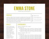 Resume Template CV Template for Word Mac or PC by ShineResumes