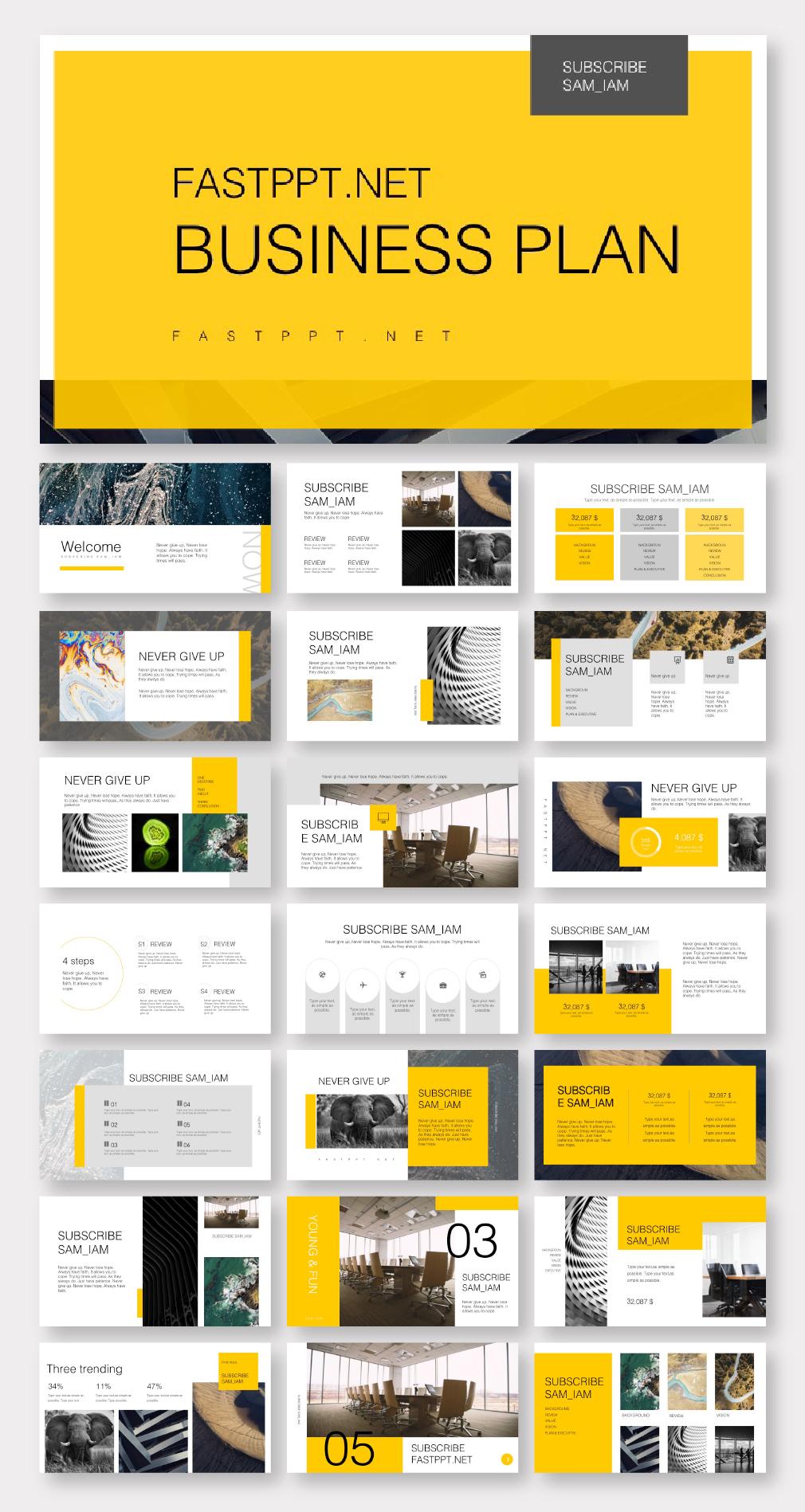 Yellow Minimal Powerpoint Template Powerpoint Presentation Design Powerpoint Design Templates Presentation Layout