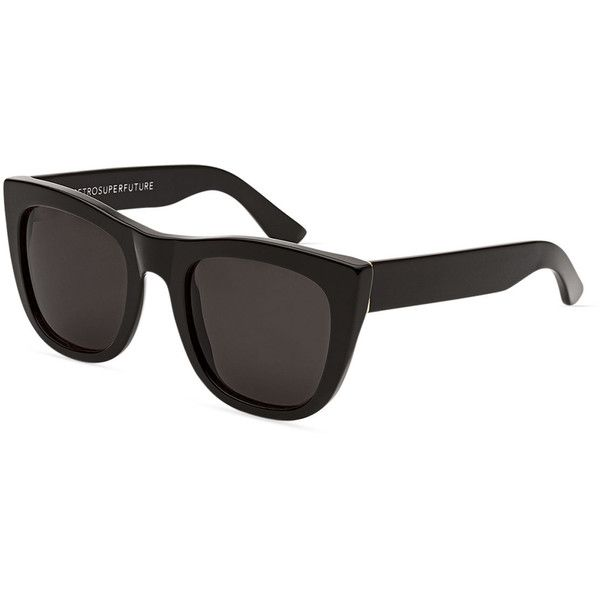 d67a22b0b3 Super by Retrosuperfuture Gals Square Monochromatic Sunglasses ( 179) ❤  liked on Polyvore featuring accessories