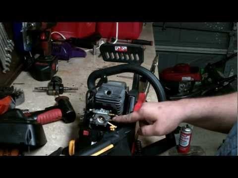 HOMELITE CHAINSAW REPAIR : how to rebuild the carburetor and