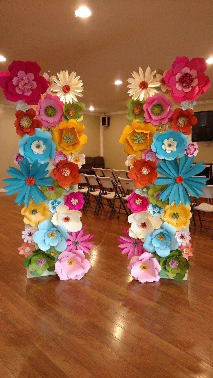 Fleurs de papier   Bricolage fleurs en papier, Fleur papier mariage, Artisanat de fleurs