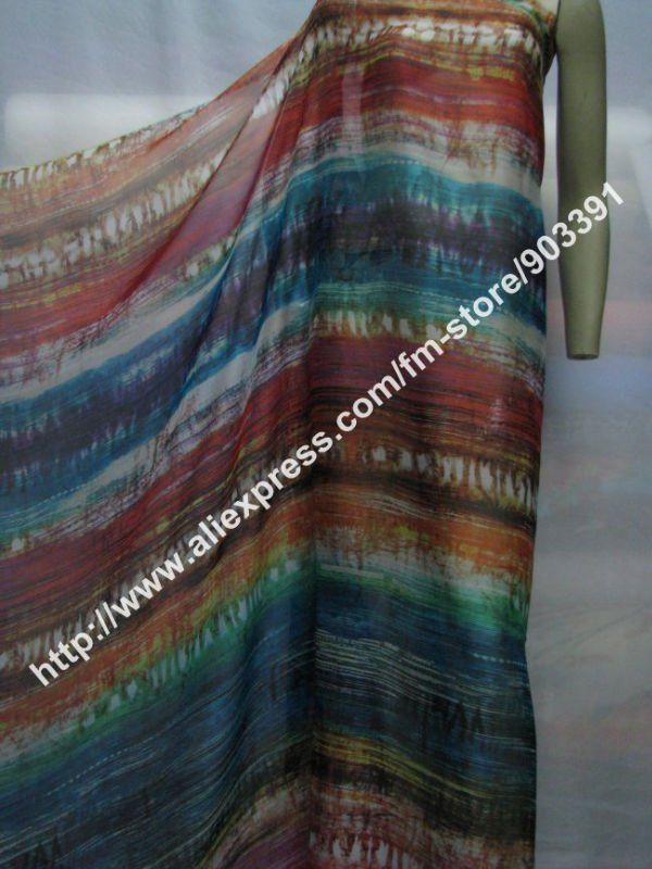 New Arrival 100% Pure Silk Fabric Printed Chiffon Textile