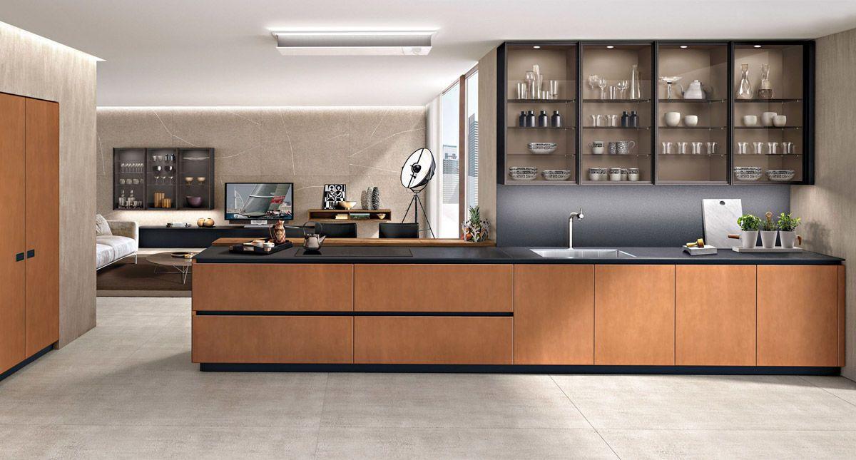 Cocina moderna / de metal / de madera / con isla - ANTIS FUSION ...