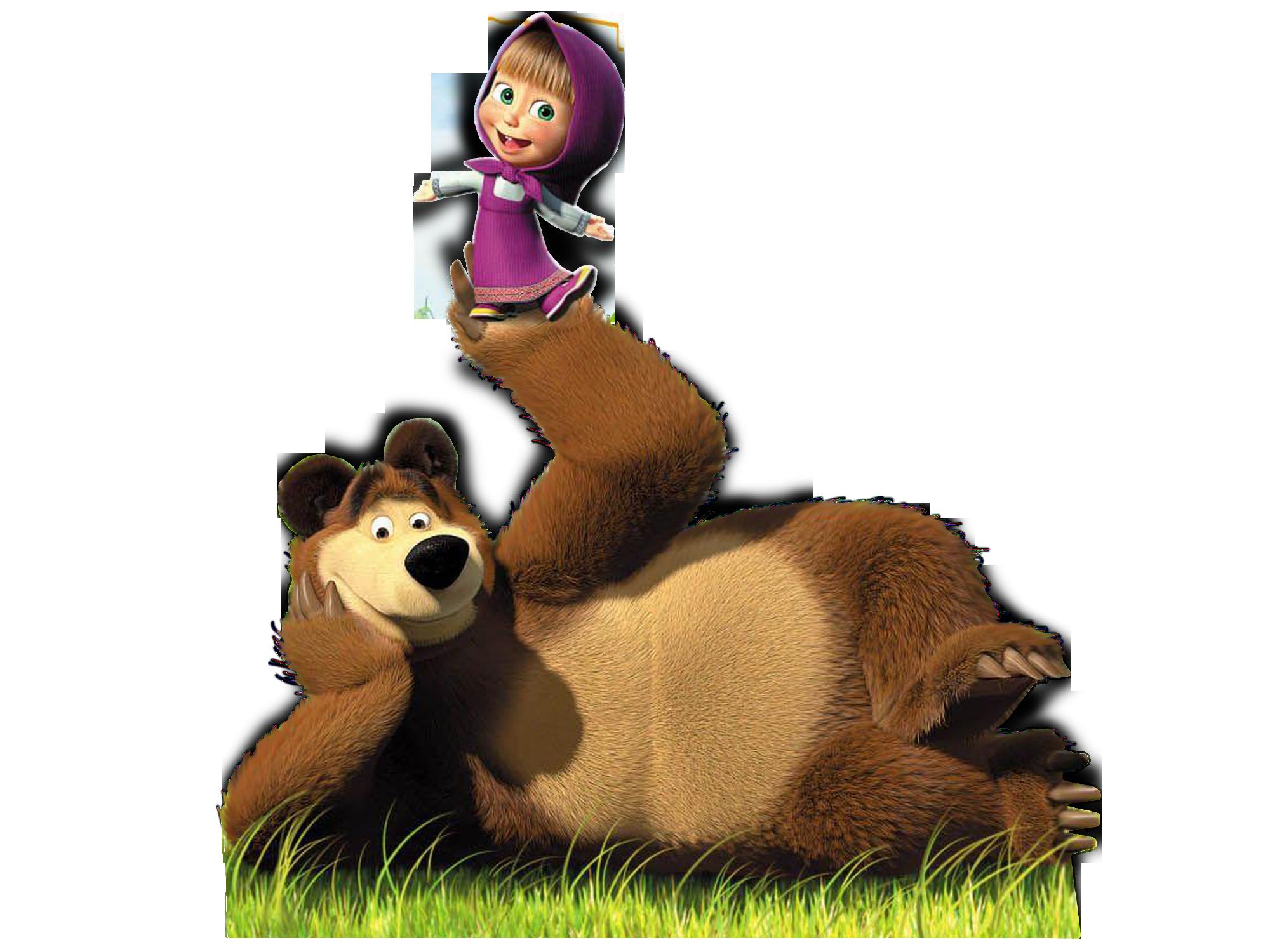 Маша и Медведь - для печати, большой формат | Медведь ...