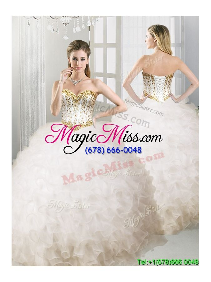 7384167ae74 wholesale lovely big puffy white quinceanera dress with beading and ruffles