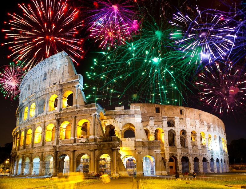 Image result for New Year's fireworks in Italy