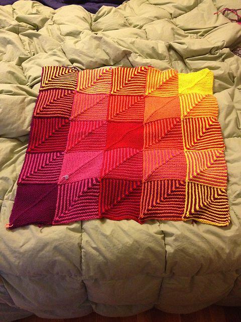 Hue Shift Afghan pattern by Kerin Dimeler-Laurence | Stricken ...