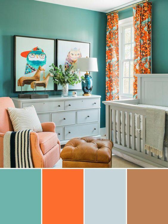 Paletas de colores para habitacion de bebe