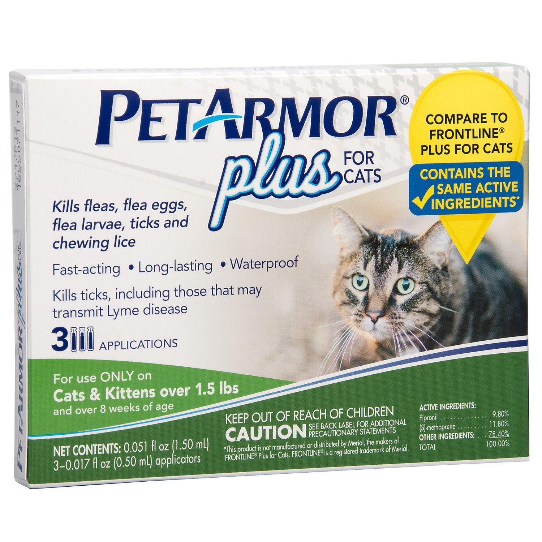 Petarmor Plus Flea Tick Squeeze On Cat Over 1 5 Lbs Cat Fleas