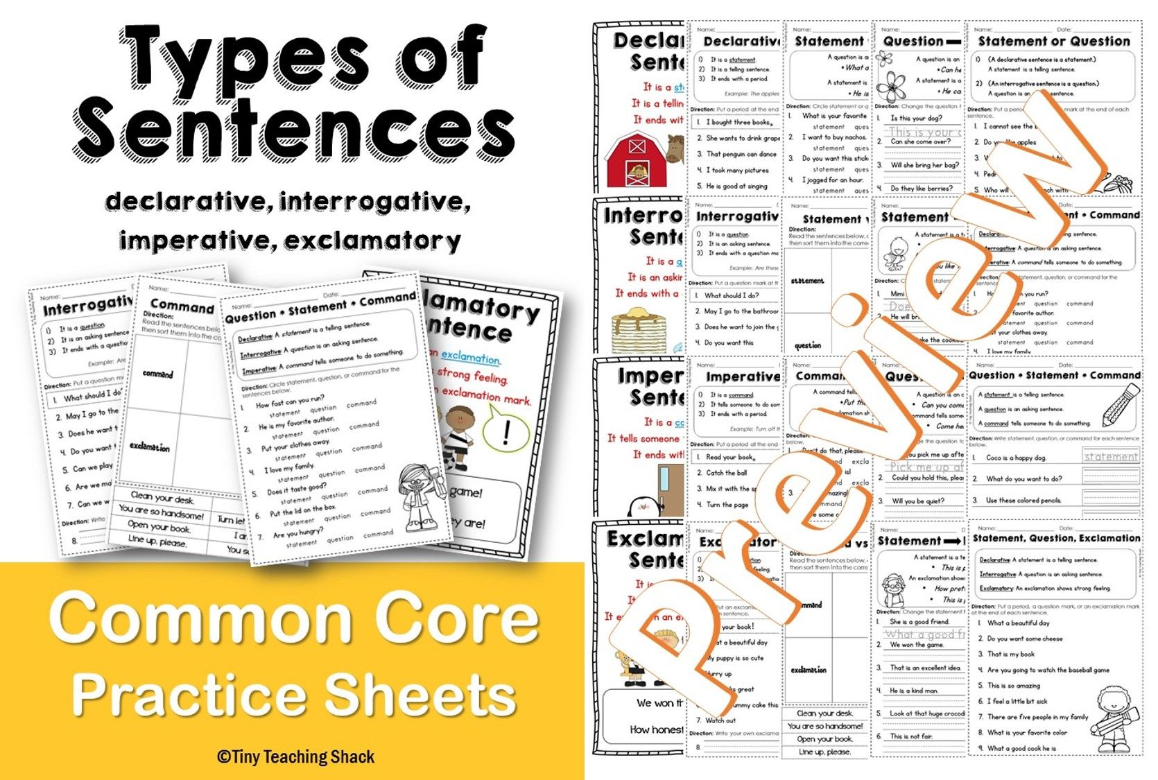 Types Of Sentences And End Punctuation Common Core