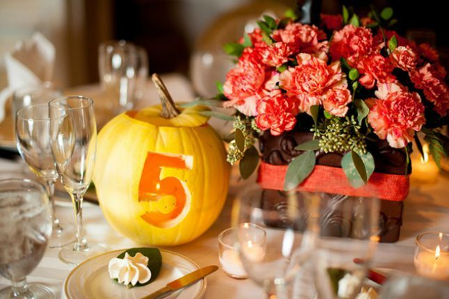 14 Creative Ways to Use Pumpkins in Your Fall Wedding via Brit + Co.