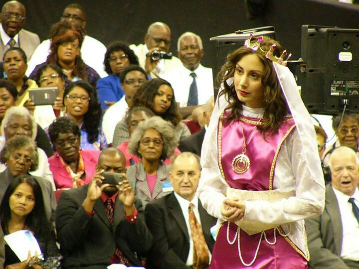 Queen Esther in this year's convention drama.
