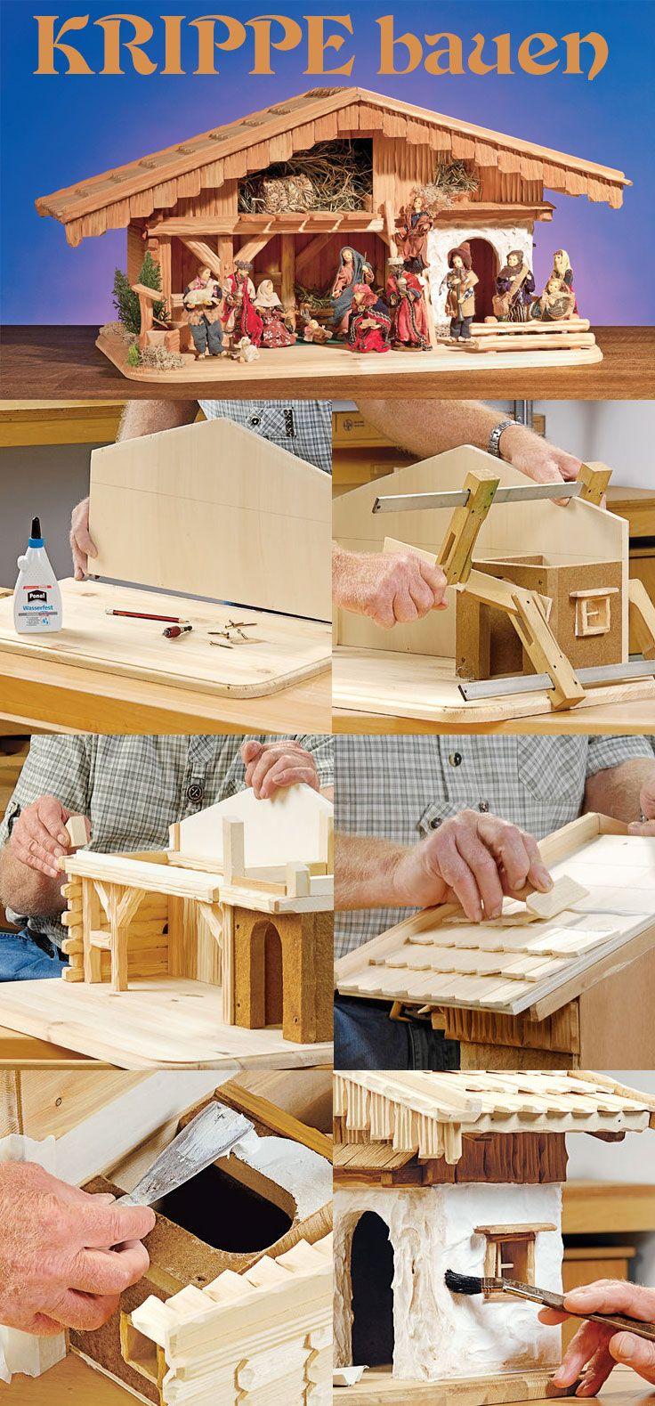 Bilder Krippe Weihnachten.Stallkrippe Bauen Miniatures Dollhouses Krippen Selber Basteln