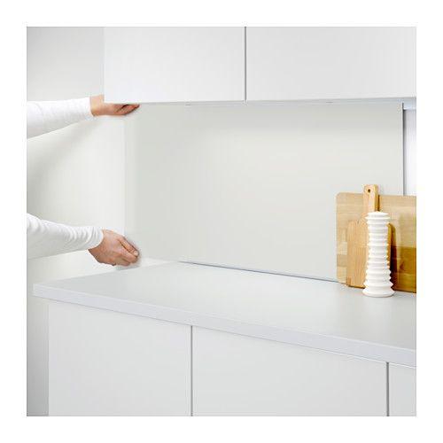 LYSEKIL Wandpaneel, doppelseitig weiß, grüngrau Basements, Walls - wandpaneel küche glas