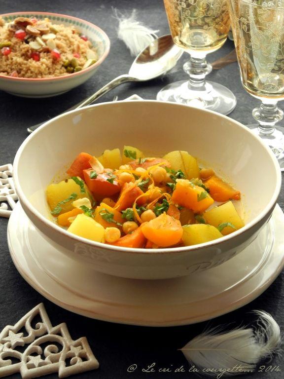 Tajine végétarien aux parfums d'orange | Tajine végétarien ...