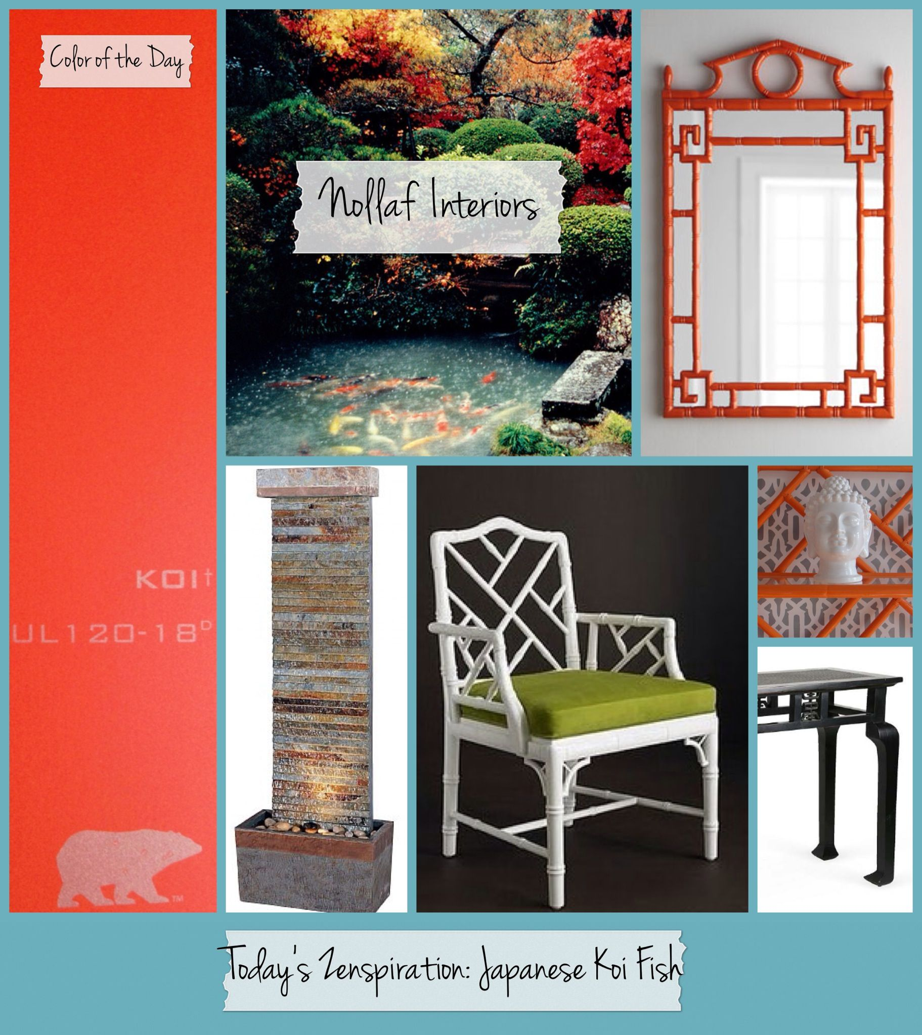 Behr Morning Zen Paint With Accent Wall: Today's Zenspiration...A Japanese Koi Fish Garden. Achieve