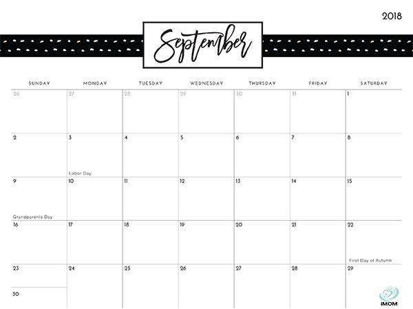 Pretty Patterns 2018 Printable Calendar Printable calendars - daily calendar printable