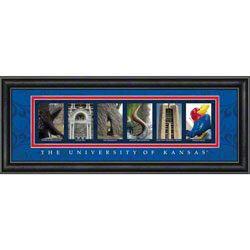 Kansas Jayhawks Letter Art $50.00 http://www.prosportsmemorabilia.com/Kansas-Jayhawks-Letter-Art-_-344043489_PD.html?social=pinterest_pfid23-18026