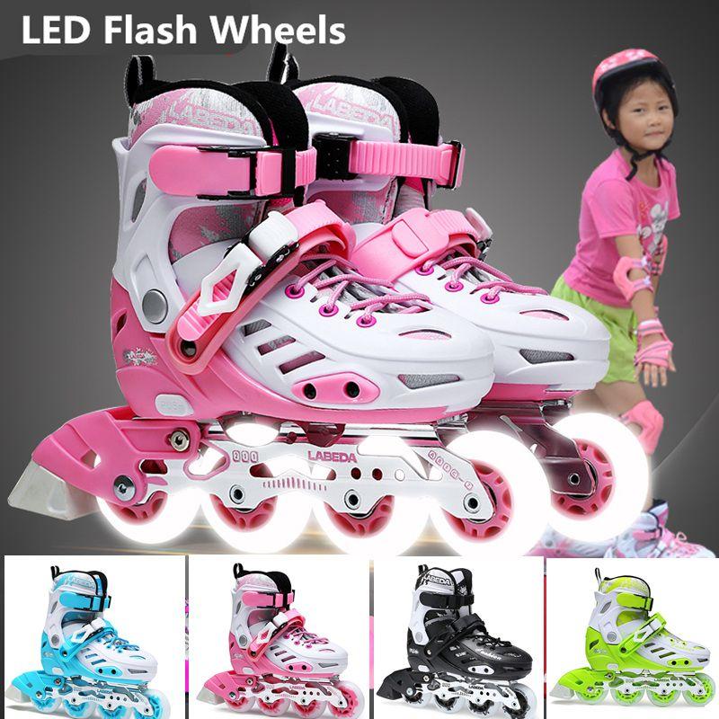 LED Flash Wheel Inline Skate Shoes for
