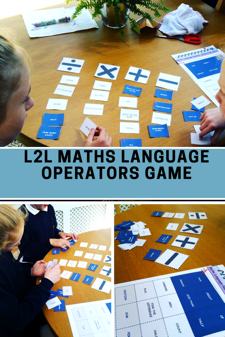 Math Language - Number (+ x -) Operators Language Matching GAME for ...