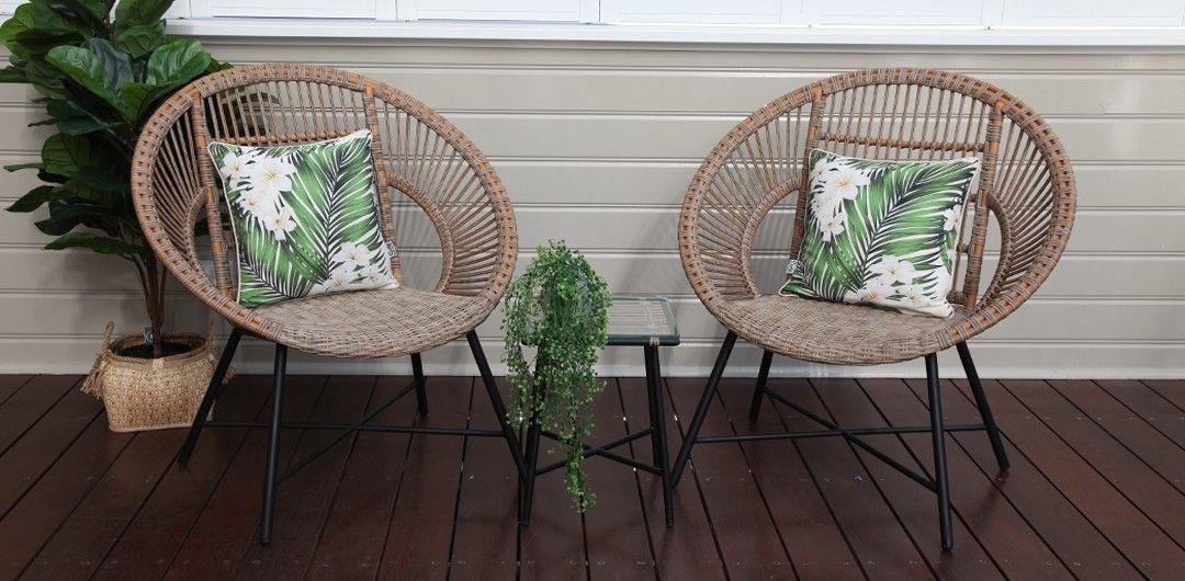 Sheldon 3 Piece Balcony Setting Outdoor Furniture Australia Outdoor Lounge Set White Furniture Living Room