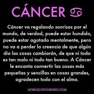 Cancer que es bueno