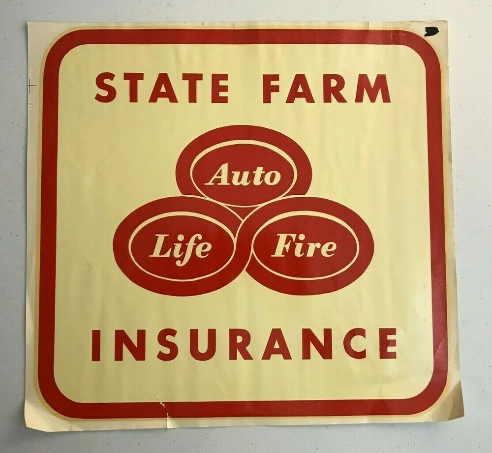 Rare Vintage STATE FARM INSURANCE Duro Decal Extra Large