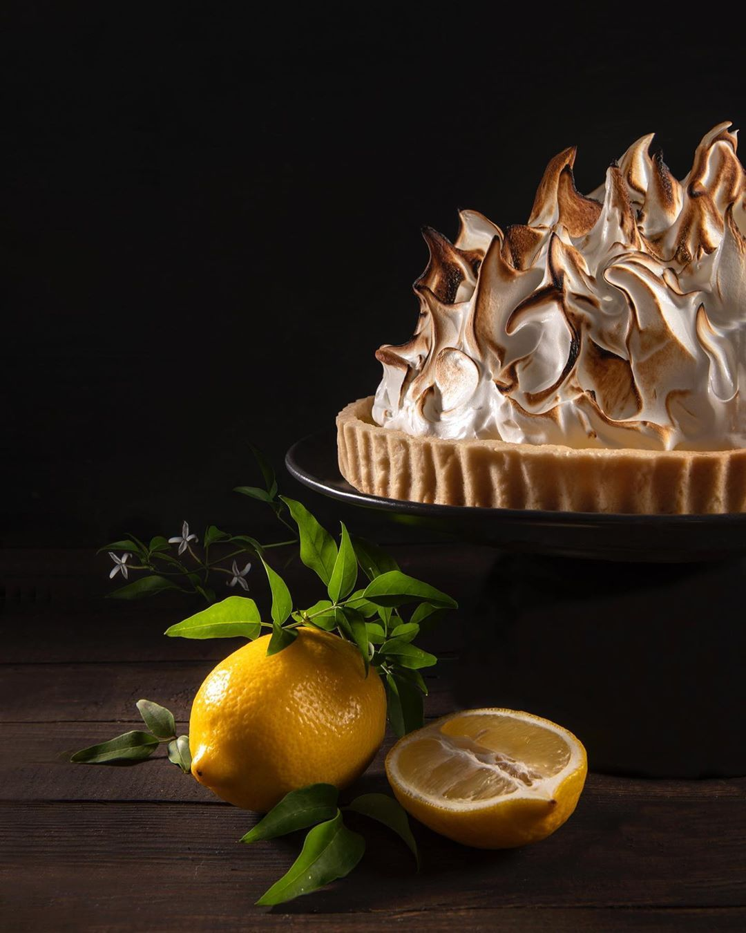 Lemon meringue tart . . Could there be too much meringue on this tart? There is no such thing! 😋 . .