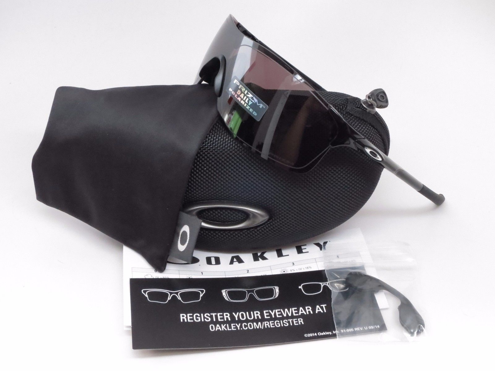 2ca2170a642 Oakley Evzero Pitch OO9383-0638 Polished Black Prizm Daily Polarized  Sunglasses
