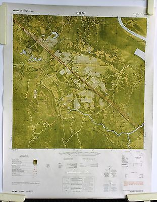 Color Battle Map Of Phu Bai Vietnam City Maps US Army Topo - Change map of 1968 us